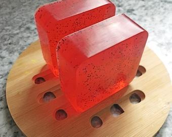 Strawberry Poppy Soap ~ Glycerin Soap