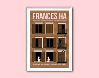 Movie poster Frances Ha retro print in various sizes