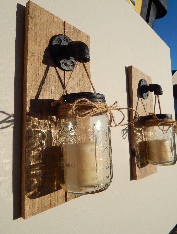 Mason Jar Wall Sconce Kitchens