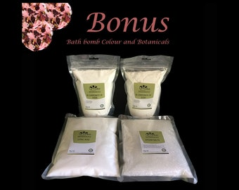 4 KG Bath Bomb Refill Kit - Makes 80+ Bath Bombs (Bonus Colour & Botanicals)