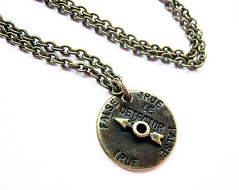 Vintage Style Lie Detector Charm Necklace