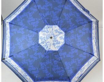 Parapluie pliant Piganiol BLEU MARINE ET ROI MADE IN FRANCE