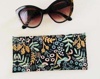 Glasses Case sunglasses pouch snap cotton linen rifle
