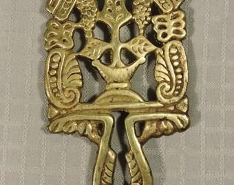 Brass Trivet Vintage Japan