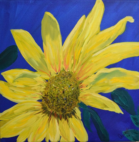 Painting, acrylic, Sunflower on a Sunny Day
