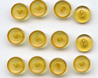 """Matching set of (12) NOS Vintage CHUNKY Applejuice BAKELITE Buttons 1/2"""" MoRE AVAlLABLE Apple Juice 4892"""