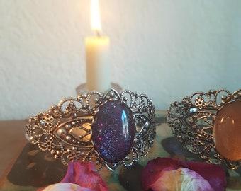 Celtic, medieval, magic, baroque, Victorian, silver bracelet