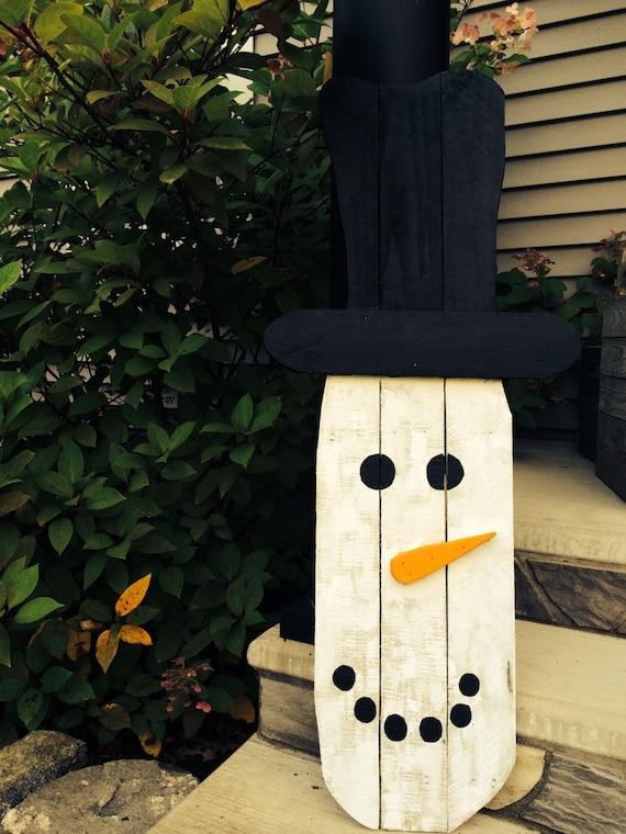 Primitive Snowman Snowman Reclaimed Wood Snowman Rustic