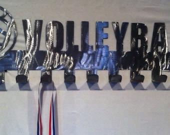Volleyball Medal Display hooks, Medal holder