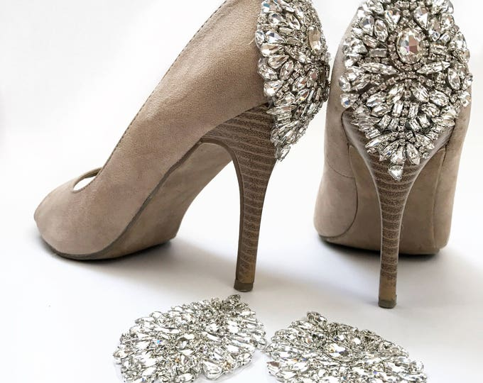 Wedding shoes, DIY crystal wedding shoe appliques kit 09S