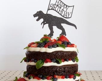 Dinosaur Cake Topper Happy Birthday