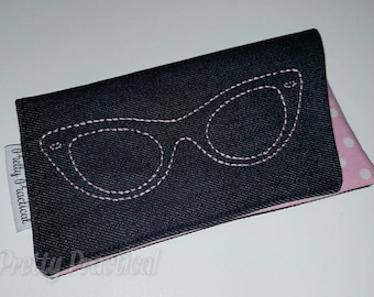 Custom made Sunglasses Sleeve Case - Embroidered Glasses Case