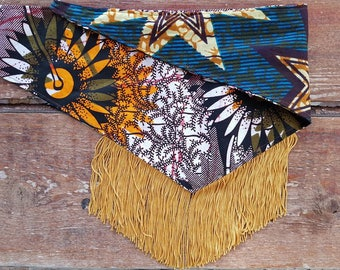 Retro Bandana Scarf ~ Vintage Style, Boho, Festival Chic, Stars and Stripes, Flower Power, 70s Hippie