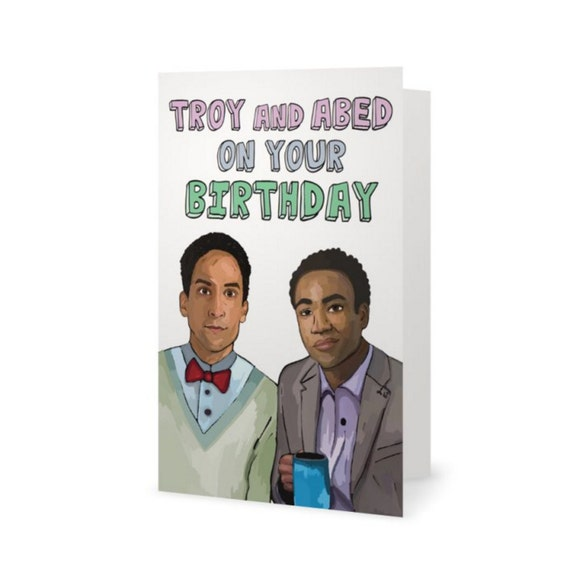Troy and abed community tv show birthday card snl comedy bookmarktalkfo Images