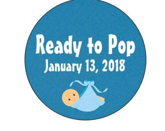 Ready to Pop - Baby Shower Labels
