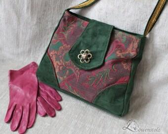 Evening handbag, vintage style, leather, Upcycling