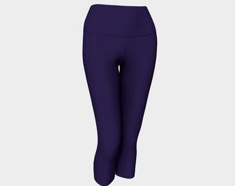 Sapphire Purple Yoga Capris