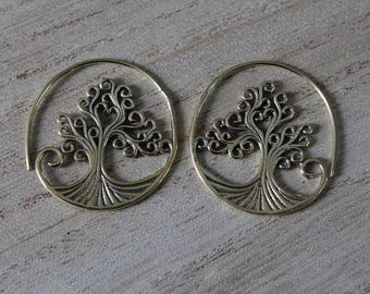 Pair of three of life earrings