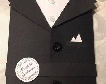 Birthday Card, Card, Man, Gentlemen's Day, Thankyou, Fancy Card, Folded Card, Present