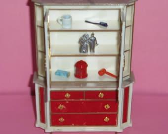Petite Princess Miniature Treasure Trove Cabinet Circa 1964 w/Extras