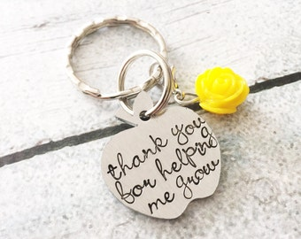 Teacher gift - Hand stamped keychain - Teacher keychain - Gift from student - Best teacher ever - Personalized keychain