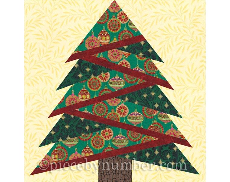 Pine Tree quilt block pattern paper piecing quilt pattern : christmas quilt block - Adamdwight.com