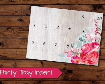 Mary kay etsy mary kay party tray inserts watercolor flowers on wood stopboris Images