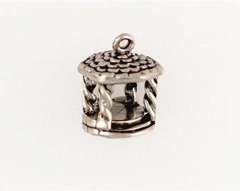 Sterling Silver 3-D Gazebo Charm