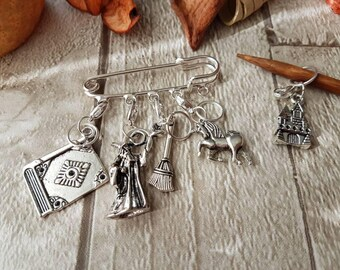 Stitch markers,  wizard stitch markers, wizard progress keepers, knitting stitch markers, crochet stitch markers, harry potter stitch marker