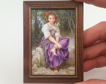 FRAMED Miniature Painting reproduction by Brooke Rothshank