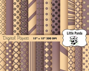 70% OFF SALE Bazaar and Champagne Digital Paper Pack 24 jpg files 12 x 12  - Instant Download - D214