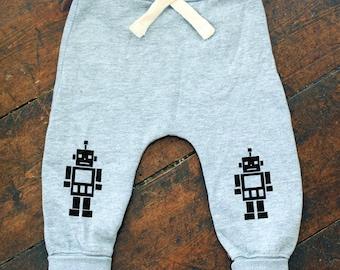 Robot motif Grey Joggers