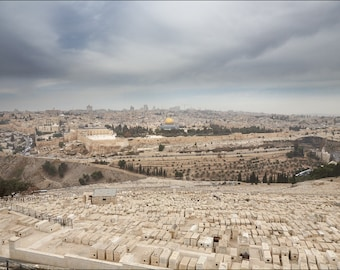 The Old City of Jerusalem - View from Mount of Olives -  Color Photo Print - Fine Art Photography (IS23)