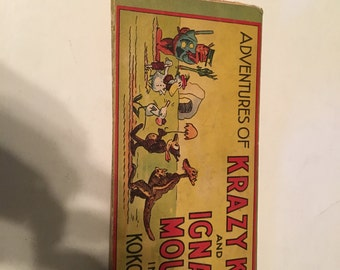 adventures of krazy kat and ignatz mouse in koko land hardcover book 1934