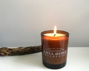 Log Fire Scented Soy Candle - 9 oz