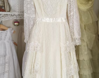 Vintage 60's Wedding Gown