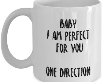 Beautiful One Direction 1D Coffee Mug - One Direction Christmas Gifts - Features a Stunning Image of Niall Horan, Zayn Malik, Liam Payne,
