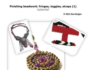 Finishing beadwork tutorial for beginning beadweavers: Instant Downloadable Booklet PDF File