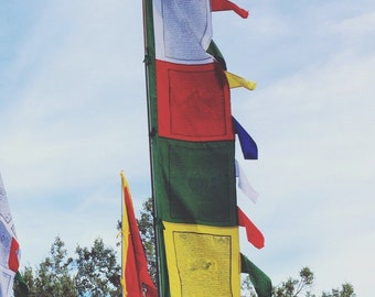 Multi-color Vertical Prayer Flags..