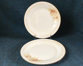 Vintage Noritake Devotion Dinner Plates, Set of 2