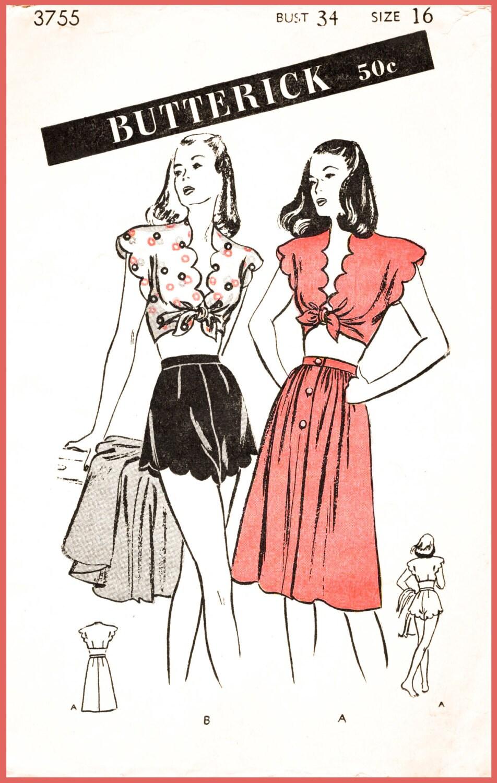 1940er Jahre 40er Jahre Repro Vintage Nähen Muster Bademode