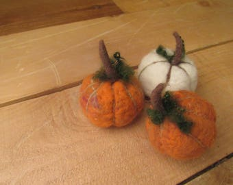 White Pumpkin, Orange Pumpkin,