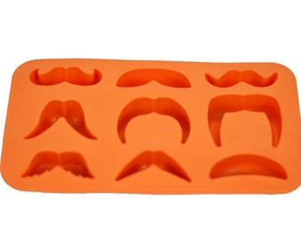 Mustache Variety Ice Cube, Chocolate or Candy Mold