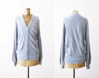 Vintage Cardigan - Gray Cardigan - Grunge Cardigan - Grandpa Cardigan - Cardigan Small - Grey Cardigan Sweater