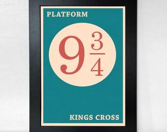 Platform 9 3/4 Minimalist Poster - Harry Potter Inspired Wall Art