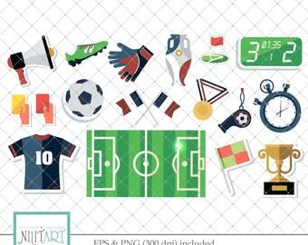 football clip art, Championship clipart, vector graphics, sport clipart, digital clip art, digital images -  CL 122