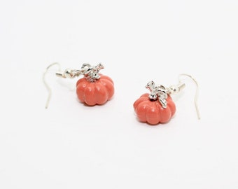 Cinderella earrings, Halloween Jewelry, Pumpkin Earrings, Halloween Earrings, Pumpkin Jewelry, Charm Earrings, Orange Earrings, Cute Earring
