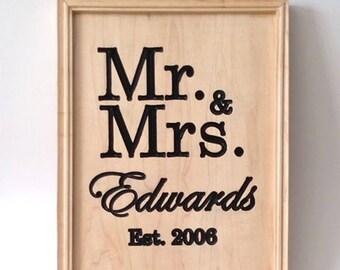 Mr & Mrs Established Sign