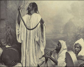 Poster, Many Sizes Available; Snake Charmers Photographed By Tancrède Dumas In Tangier, Morocco 19Th Century
