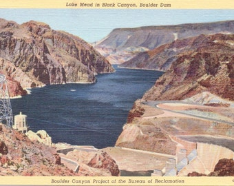 Lake Mead, Black Canyon, Boulder Dam - Vintage Postcard - Postcard - Unused (Q)